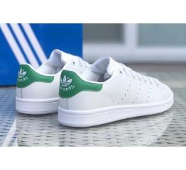 Купить Женские кроссовки Adidas Stan Smith белые с зеленым в Украине