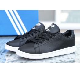 Купить Женские кроссовки Adidas Stan Smith черные с белым