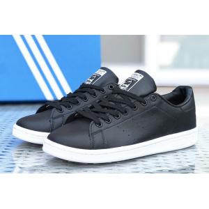 Женские кроссовки Adidas Stan Smith черные с белым