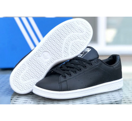 Купить Женские кроссовки Adidas Stan Smith черные с белым в Украине