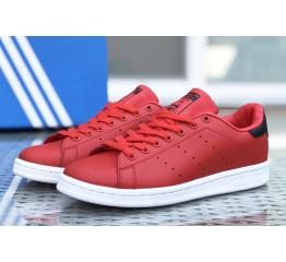 Купить Женские кроссовки Adidas Stan Smith красные с белым