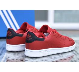 Купить Женские кроссовки Adidas Stan Smith красные с белым в Украине