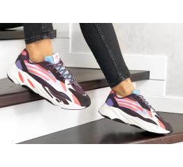 Купить Жіночі кросівки Adidas Yeezy Boost 700 V2 Static фіолетові з білим