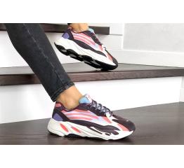 Купить Жіночі кросівки Adidas Yeezy Boost 700 V2 Static фіолетові з білим в Украине