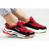 Женские кроссовки Balenciaga Triple S красные с черным