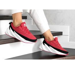 Женские кроссовки на меху Adidas Sharks Fur красные