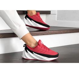 Купить Жіночі кросівки зимові Adidas Sharks Fur червоні в Украине
