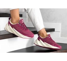 Купить Жіночі кросівки зимові Adidas Sharks Fur малиновые