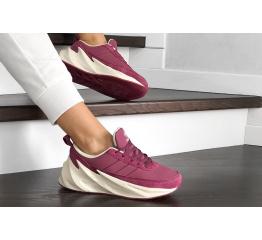 Купить Женские кроссовки на меху Adidas Sharks Fur малиновые