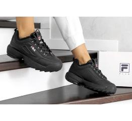 Женские кроссовки на меху Fila Disruptor Winter черные
