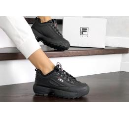 Купить Женские кроссовки на меху Fila Disruptor Winter черные