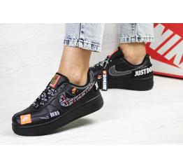 Женские кроссовки Nike Air Force 1 Just Do It черные