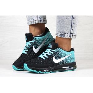 Женские кроссовки Nike Air Max 2017 бирюзовые с черным