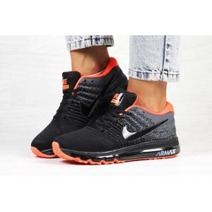 Женские кроссовки Nike Air Max 2017 черные с серым и оранжевым
