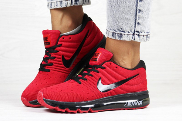 Женские кроссовки Nike Air Max 2017 красные