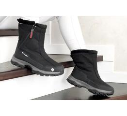 Купить Жіночі чоботи зимові Columbia чорні з сірим и белым