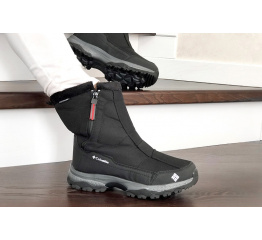 Купить Жіночі чоботи зимові Columbia чорні з сірим и белым в Украине