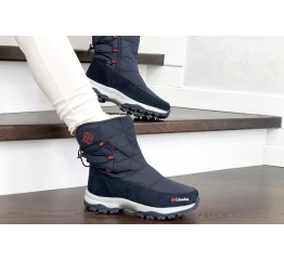 Купить Жіночі чоботи зимові Columbia темно-сині з червоним в Украине
