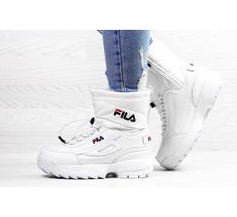 Купить Женские сапоги на меху Fila Disruptor Shearling белые
