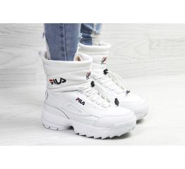 Купить Жіночі чоботи зимові Fila Disruptor Shearling білі в Украине