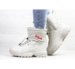 Купить Жіночі чоботи зимові Fila Disruptor Shearling бежеві