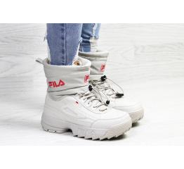 Купить Жіночі чоботи зимові Fila Disruptor Shearling бежеві в Украине