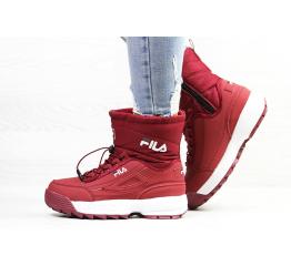 Купить Жіночі чоботи зимові Fila Disruptor Shearling бордові