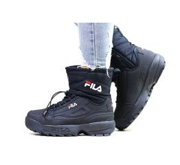 Купить Жіночі чоботи зимові Fila Disruptor Shearling темно-сині