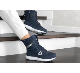 Купить Жіночі чоботи зимові Reebok темно-сині в Украине