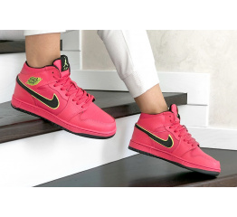 Купить Жіночі високі кросівки зимові Nike Air Jordan 1 Retro High OG червоні
