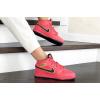 Женские высокие кроссовки на меху Nike Air Jordan 1 Retro High OG красные