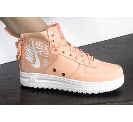 Купить Жіночі високі кросівки Nike SF Air Force 1 Mid пудровие