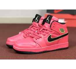 Женские высокие кроссовки Nike Air Jordan 1 Retro High OG red