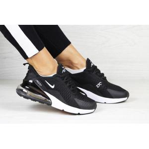 Женские кроссовки Nike Air Max 270 черные с белым