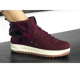 Купить Женские высокие кроссовки Nike SF Air Force 1 Mid бордовые
