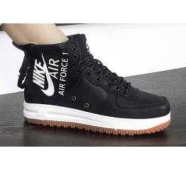 Купить Жіночі високі кросівки Nike SF Air Force 1 Mid чорні з білим
