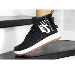 Купить Женские высокие кроссовки Nike SF Air Force 1 Mid черные с белым в Украине