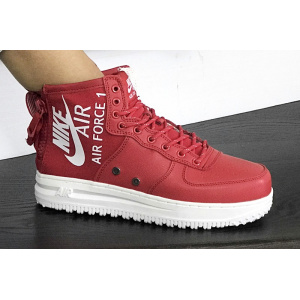 Женские высокие кроссовки Nike SF Air Force 1 Mid красные