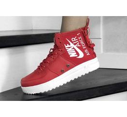 Купить Женские высокие кроссовки Nike SF Air Force 1 Mid красные в Украине