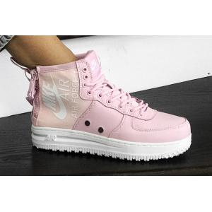 Женские высокие кроссовки Nike SF Air Force 1 Mid розовые