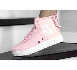 Купить Женские высокие кроссовки Nike SF Air Force 1 Mid розовые в Украине