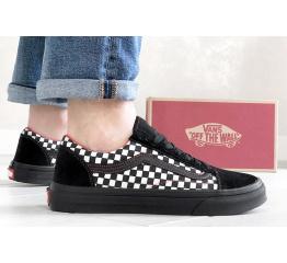 Купить Мужские кеды Vans Old Skool Checker черные