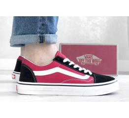 Купить Мужские кеды Vans Old Skool красные с черным