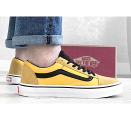 Купить Мужские кеды Vans Old Skool желтые с черным