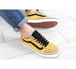 Купить Мужские кеды Vans Old Skool желтые с черным в Украине