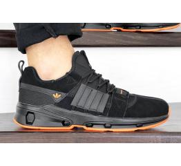 Купить Мужские кроссовки Adidas ADV EQT черные с оранжевым