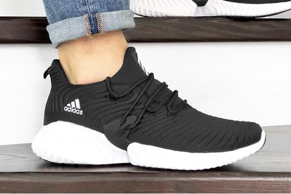 Мужские кроссовки Adidas AlphaBOUNCE Instinct черные с белым