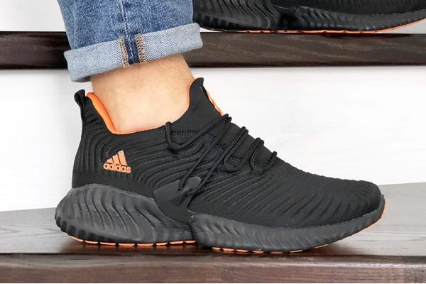 Мужские кроссовки Adidas AlphaBOUNCE Instinct черные с оранжевым