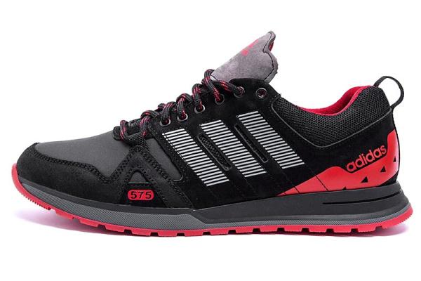 Мужские кроссовки Adidas черные с красным