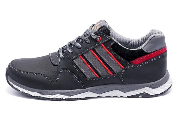 Мужские кроссовки Adidas черные с серым